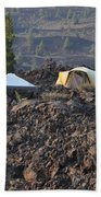 Camping On The Moon Beach Towel