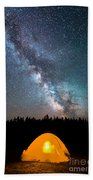 Camping Under The Stars Beach Towel