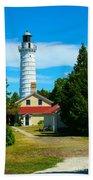 Cana Island Wi Lighthouse Beach Towel
