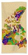 Canada Watercolor  Beach Towel