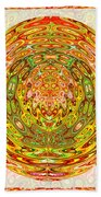 Canadian Fall Colors Conversion Into Chakra Wheel Deco Enery Mandala Beach Towel