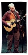Canadian Folk Rocker Bruce Cockburn In 2002 Beach Towel