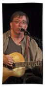 Canadian Folk Singer James Keeglahan Beach Towel