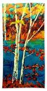Canadian  Landscape Artist Carole Spandau Beach Towel