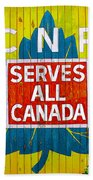 Canadian National Railway Stamp Beach Towel