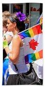 Canadian Rainbow Beach Towel