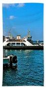 Canakkale Ferry Dock-turkey Beach Towel