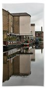 Canal And Chimneys Beach Towel by Jeremy Hayden