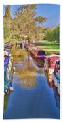 Canal Barges Beach Towel