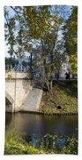 Canal Near Freedom Monument Riga Beach Towel