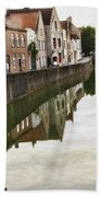 Canal Reflection  Beach Towel