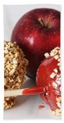 Candied Caramel And Regular Red Apple Beach Towel