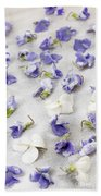 Candied Violets Beach Towel