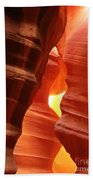 Candle Flame At Antelope Canyon Beach Towel