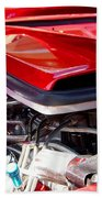Candy Apple Red Horsepower - Ford Racing Engine Beach Towel