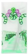Candy Cane Christmas 5 Beach Towel
