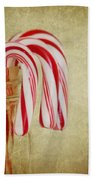 Candy Canes Beach Towel