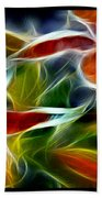 Candy Lily Fractal Triptych Beach Towel