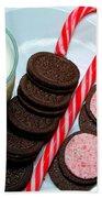 Candycane  Cookies - Milk - Cookies Beach Towel