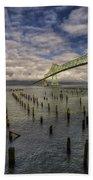 Cannery Pier Hotel And Astoria Bridge Beach Towel