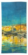 Cannes By Night Beach Towel