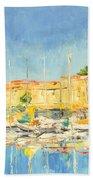 Cannes Harbour Beach Towel