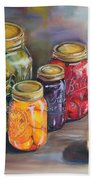 Canning Jars Beach Towel