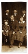 Cannon Family Portrait Circa 1912 Beach Towel