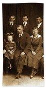 Cannon Family Portrait Circa 1912 Beach Sheet