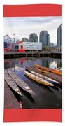 Canoe Club And Telus World Of Science In Vancouver Beach Towel