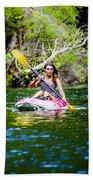 Canoe For Girls Beach Towel