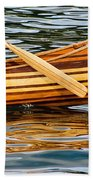 Canoe Lines And Reflections Beach Towel