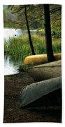 Canoe Trio Beach Towel