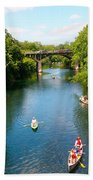 Canoeing The Springs Beach Towel