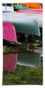 canoes - Lake Wingra - Madison  Beach Towel