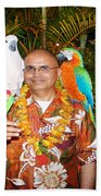 Can't Get Brighter Than This  Artist Navinjoshi In Hawaii Travel Vacations With Trained Parrots By P Beach Towel