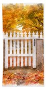 Canterbury Shaker Village Picket Fence  Beach Towel