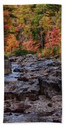 Canyon Color Rushing Waters Beach Towel