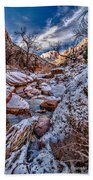 Canyon Stream Winterized Beach Towel