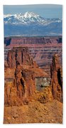 Canyon View From Mesa Arch Overlook Beach Towel