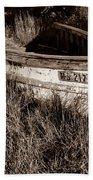 Cape Cod Skiff Beach Towel by Luke Moore