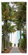 Cape Florida Walkway Beach Towel