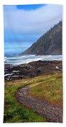 Cape Perpetua Path Beach Towel