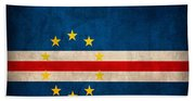 Cape Verde Flag Vintage Distressed Finish Beach Sheet