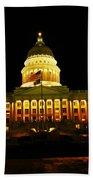 Capital Building In Utah Salt Lake City Beach Towel