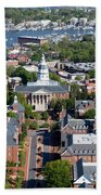 Capital Of Maryland In Annapolis Beach Towel