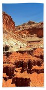 Capitol Reef Twin Towers Beach Towel