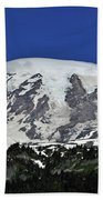 Capped Rainier Up Close Beach Towel