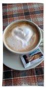 Cappuccino Love Beach Towel
