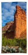 Caprock Canyon Rim Beach Towel